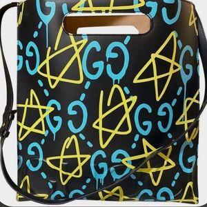 Auth. Gucci Ghost Rare Large Shopper Tote Bag